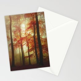 Painted Forest - Moody Autumn Woodlands Stationery Cards