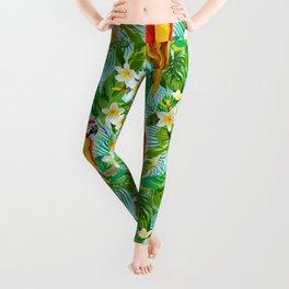 Tropical Parrot Chillin Leggings