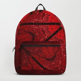 Red and Black Star Mandala Backpack