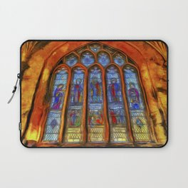 Stained Glass Window Van Gogh Laptop Sleeve