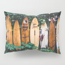 Surfboard Fence Pillow Sham