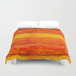 ORange wood Duvet Cover