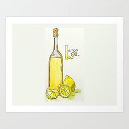 L is for Lemon Oil Art Print
