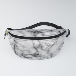 Grey and Black Veined Faux Marble Repeat Fanny Pack