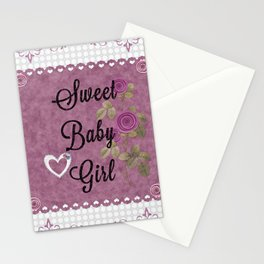 Sweet Baby Girl Stationery Cards