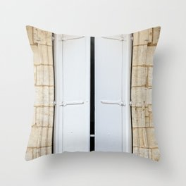Old fashioned window with shutters Throw Pillow