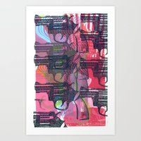 guns Art Prints featuring Guns by Print Mafia