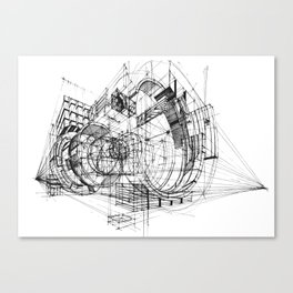 Architecture Fantasy 00347 Canvas Print