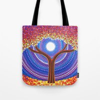 secret life Tote Bags featuring Secret Life of Trees by Elspeth McLean