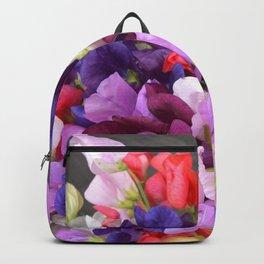 Sweet pea flowers Backpack