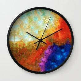 Angels Among Us - Emotive Spiritual Healing Art Wall Clock