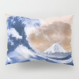 The Great Wave Inspired - Oil Painting Pillow Sham