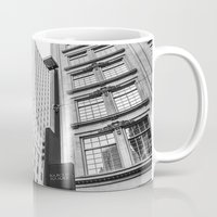 dallas Mugs featuring Downtown Dallas by Sofleecori