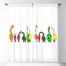 Colorful Cat Butts Blackout Curtain