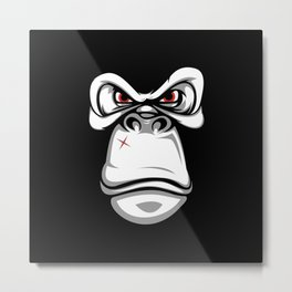 Bad Gorilla Metal Print