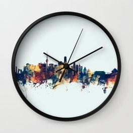 Beijing China Skyline Wall Clock