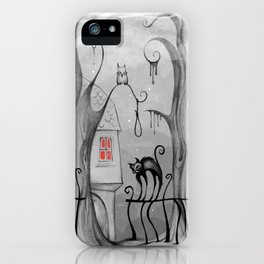 The Black Cat's Graden iPhone Case