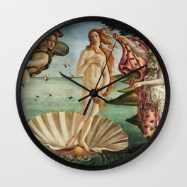 The Birth of Venus by Sandro Botticelli, 1445 Wall Clock