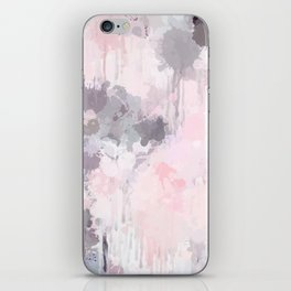 Modern Contemporary soft Pastel Pink Grey Abstract iPhone Skin