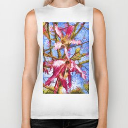 Tropical Flowers Design  Biker Tank