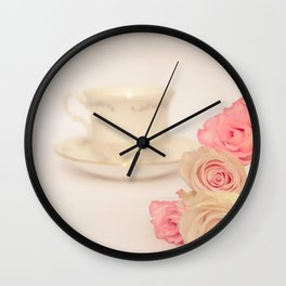 Tea for a Friend Wall Clock