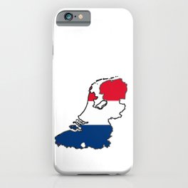 Netherlands Map with Dutch Flag iPhone Case