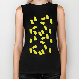 Yellow-Black-Grey Biker Tank