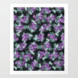 Bismarck Palm Orchids Art Print