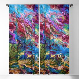 Calypso Abstract Painting by OLena Art Blackout Curtain