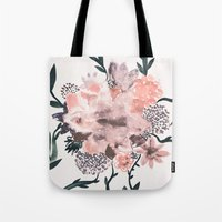 georgiana paraschiv Tote Bags featuring Summer Flowers by Georgiana Paraschiv