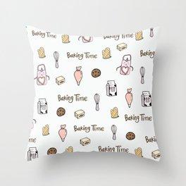 Baking Time Throw Pillow