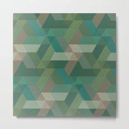 Patchwork Parallelograms Pattern Metal Print