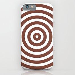 Circles (Brown & White Pattern) iPhone Case