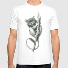 Philippine Tarsier G2012-047 White MEDIUM Mens Fitted Tee