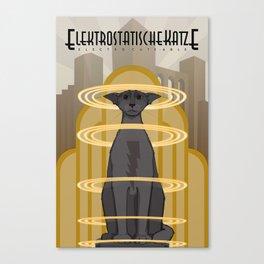 Elektrostatische Katze [Staticat] Canvas Print