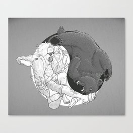 """""""Sometimes you eat the bear and sometimes... Canvas Print"""