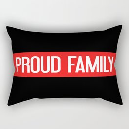 Firefighter: Proud Family (Thin Red Line) Rectangular Pillow