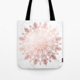 Dancing Mandala Rose Gold Tote Bag