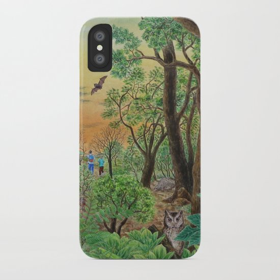 A Day of Forest (9). (the forest at night) iPhone Case