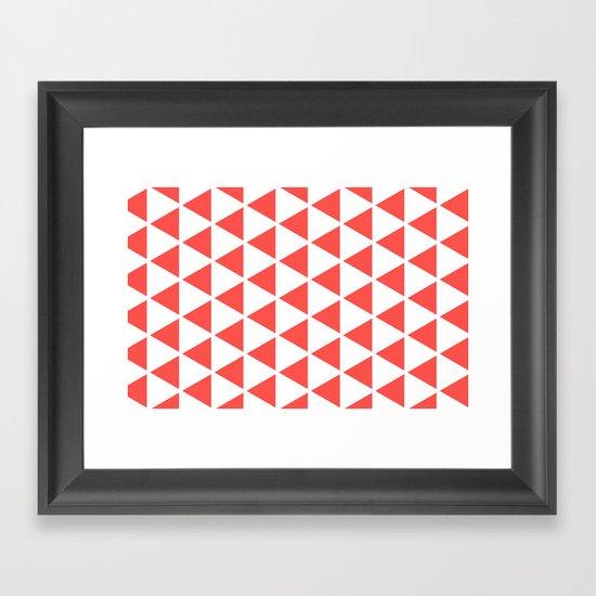 Sleyer Pink on White Pattern Framed Art Print