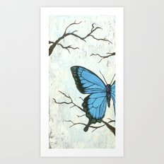 Brambles And Blue Art Print