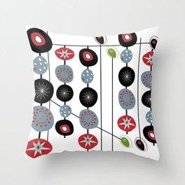 Mid-Century Modern Art Atomic Cocktail 2.0 Throw Pillow