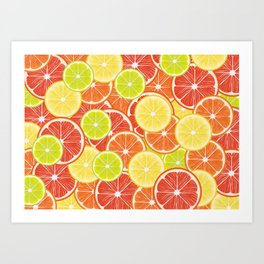 Citruses Art Print