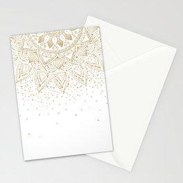 Elegant Gold Mandala Confetti Design Stationery Cards