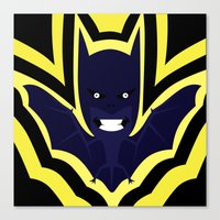 bat Canvas Prints featuring bat by Nir P