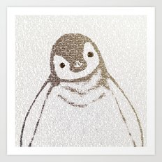 The Little Intellectual Penguin Art Print