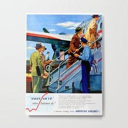 American Airlines Ad 1950s Metal Print