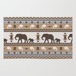 Boho animals | Elephants tan Rug