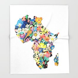 Map of Africa Throw Blanket