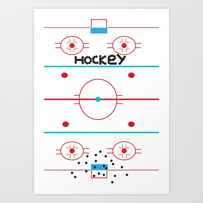 Hockey iphone case By Jp Lixie Art Print